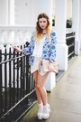 Blue-boohoo-blazer-neutral-asos-bag-ivory-boohoo-shorts-white-boohoo-top