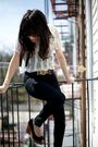 Thrifted-blouse-bdg-pants-steve-madden-borrowed-from-rock-paper-vintage-sho