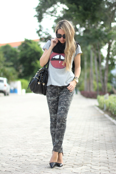 camo Primark pants - studded OASAP bag