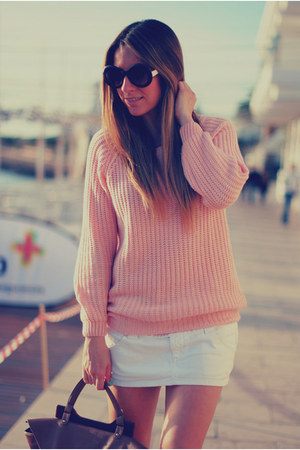 pastel Sheinside jumper - nice things bag - round romwe sunglasses