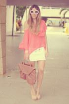 pastel Cooee bracelet - white romwe sunglasses - nude Topshop heels