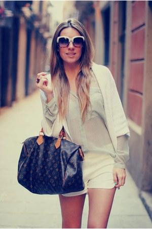 Zara shorts - Zara cardigan - Medwinds wedges
