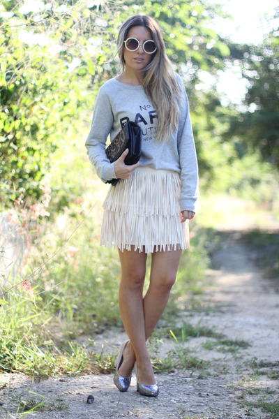 fringed Lulus skirt