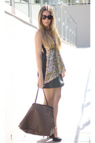 open back Sugarlips top - neverfull Louis Vuitton bag - Bershka skirt