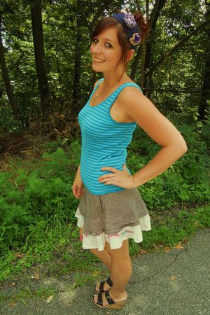 DIY skirt - DIY hair accessory accessories - boc by born shoes - INC shirt