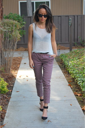 H&M pants - Ray Ban sunglasses - free people top - Zara pumps