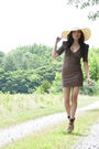 Brown-urban-outfitters-dress-brown-gifted-spadrilles-shoes