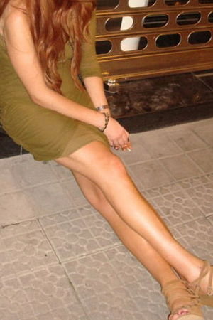 green Zara dress - beige Mango shoes