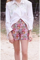 Vintage Victoria&#x27;s Secret Floral Chiffon Shorts