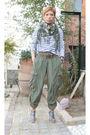 Silver-sarah-summer-shoes-green-sass-and-bide-pants-green-belt-zara-blouse