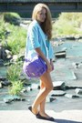 Navy-atmosphere-shoes-light-blue-glamorous-jacket-amethyst-vj-style-bag