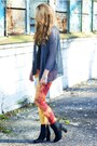 Black-h-m-boots-charcoal-gray-ianywear-sweater-carrot-orange-romwe-leggings