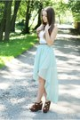 Light-blue-sheinside-skirt-brown-sheinside-bag-brown-czas-na-buty-wedges