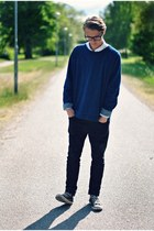 navy Emilio sweater - black Cheap Monday pants