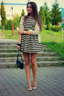 Black-skater-asos-dress-beige-leather-marc-by-marc-jacobs-bag-zara-flats
