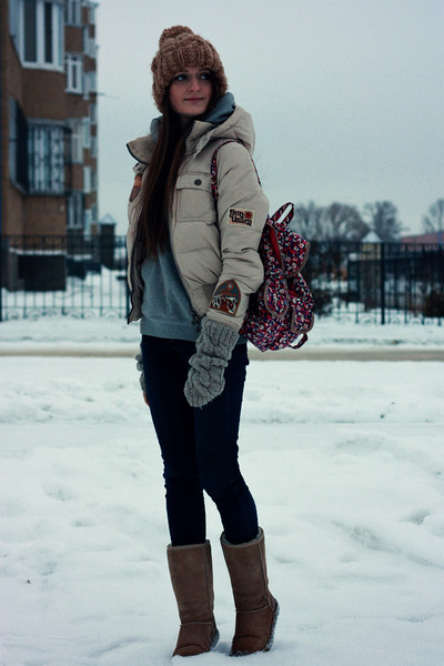 brown Accessorize hat - camel Ugg Australia boots - navy asos jeans