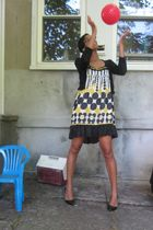 dress - black Jessica Simpson shoes - black cardigan