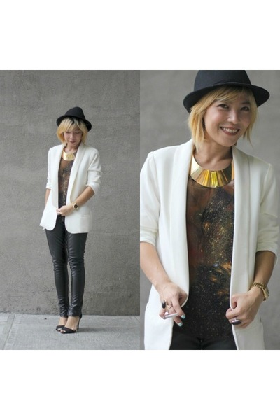 white tux Forever 21 blazer