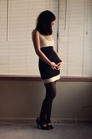 black Aritzia skirt - black Oh Deer shoes - beige banana republic dress