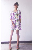 floral dress dress - wedges
