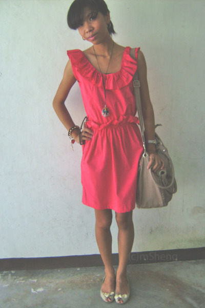 pink dresses gold shoes quot wondering in pink and ruffles