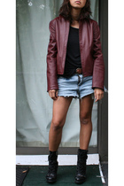 Mango jacket - random from Barneys t-shirt - Gap belt - random brand shorts - Gu
