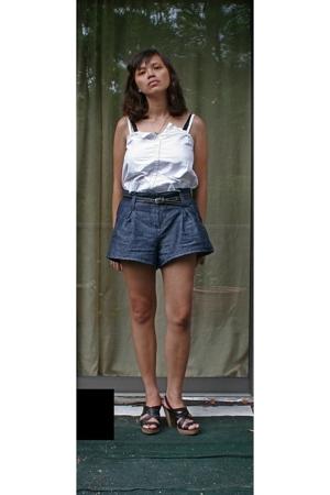 Gap blouse - Gap belt - Forever21 shorts - seychelles shoes