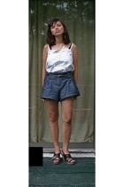 Gap blouse - Gap belt - Forever21 shorts - seychelles shoes