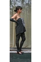 geren ford x uo top - Forever21 leggings - Nine West shoes - Victorias Secret gl