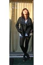 Forever21 accessories - Rick Owens jacket - Gap t-shirt - DIY shorts - random br