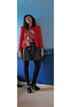 31 phillip lim jacket - Target t-shirt - Forever21 shorts - random brand tights