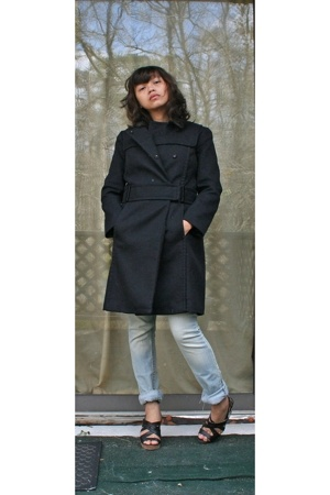 31 phillip lim coat - random brand jeans - seychelles shoes