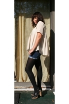 IRO top - DIY shorts - random brand tights - seychelles shoes