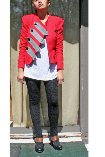 31 phillip lim jacket - Gap t-shirt - Forever 21 leggings - Dolce Vita shoes