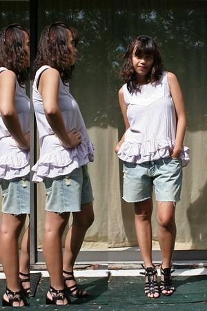 Marc by Marc Jacobs blouse - DIY shorts - Nine West shoes