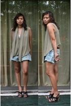 random from Barneys vest - DIY shorts - Y-3 accessories - seychelles shoes - Gap