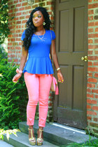 Bebe shoes - Topshop jeans - Forever 21 blouse