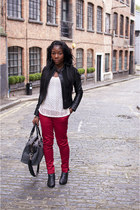 H&M jacket - new look boots - Topshop bag - warehouse pants - H&M top