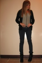 Dollhouse shoes - RVCA pants - belt - H&M sweater