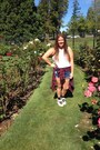 Diy-cutoff-thrifted-shorts-black-nike-socks-red-flannel-jcpenney-top
