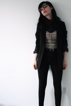 H&M blazer - Talula shirt - riding pants Talula pants - rhinestones Double in Br