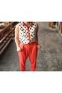 White-primark-blouse-mustard-suede-novo-heels