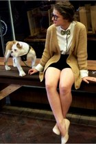 camel knit cardigan Country Road cardigan - cream supre shirt