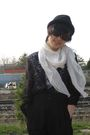 White-american-apparel-shirt-black-liz-claiborne-blouse-black-pants-black-