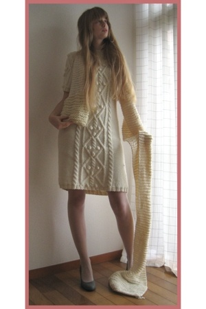 Handmade by Mom dress - made by my friend Junko scarf - socks store in harajuku