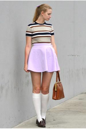 light purple American Apparel skirt - white American Apparel socks