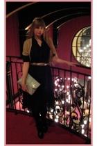vintage dress - H&M belt - H&M vest - H&M purse - vintage boots