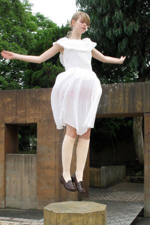 vintage dress - American Apparel shorts - American Apparel socks