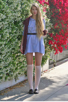 violet American Apparel dress - brick red American Apparel sweater