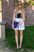 deep purple vintage bag - amethyst American Apparel shorts - navy American Appar
